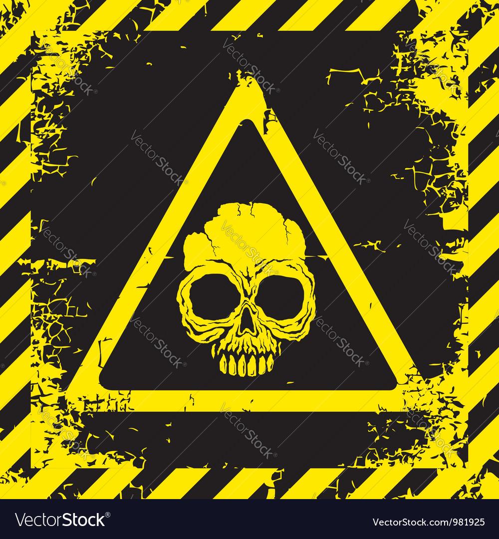 Skull yellow vector | Price: 1 Credit (USD $1)