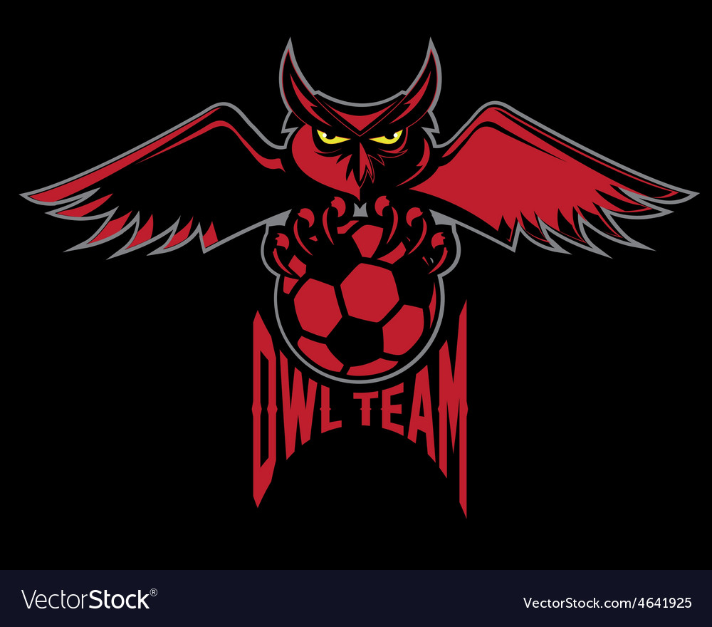Sport football emblem owl team vector | Price: 1 Credit (USD $1)