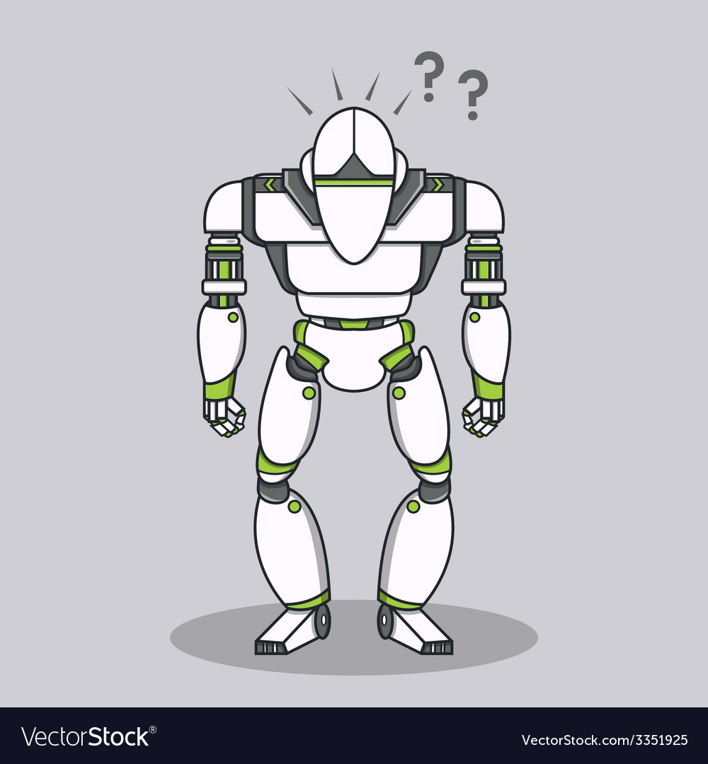Stupid question robot vector | Price: 1 Credit (USD $1)