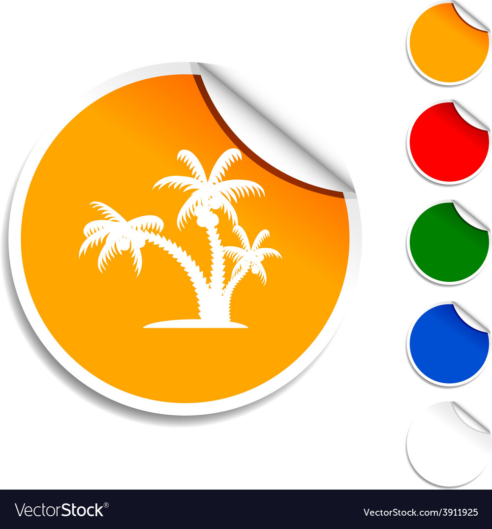 Tropical icon vector | Price: 1 Credit (USD $1)