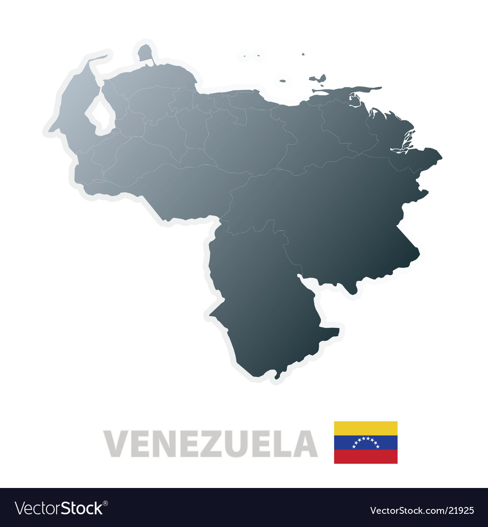 Venezuela map with official flag vector | Price: 1 Credit (USD $1)