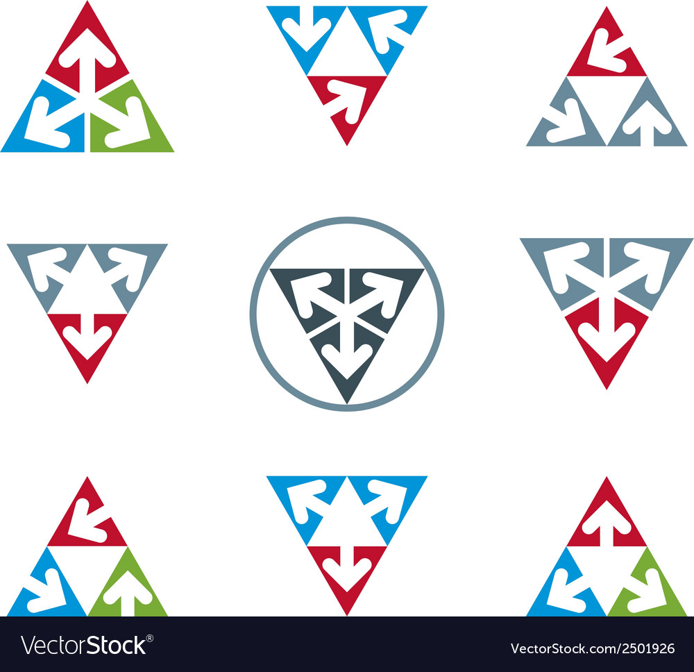 Abstract unusual icons set creative symbols vector | Price: 1 Credit (USD $1)