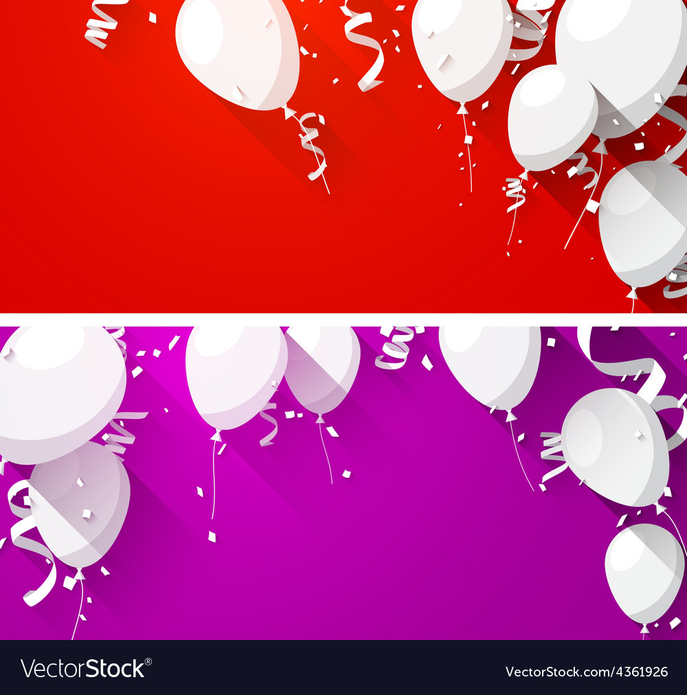 Celebrate backgrounds with flat balloons vector | Price: 1 Credit (USD $1)