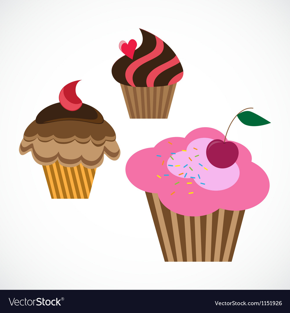 Delicious cupcakes vector | Price: 1 Credit (USD $1)