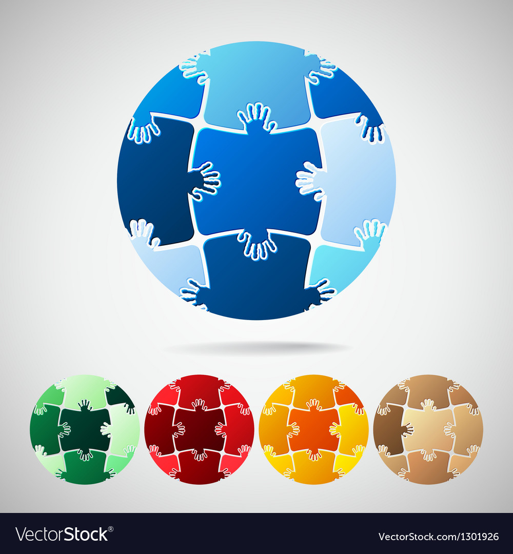 Earth planet from puzzle pieces vector | Price: 1 Credit (USD $1)