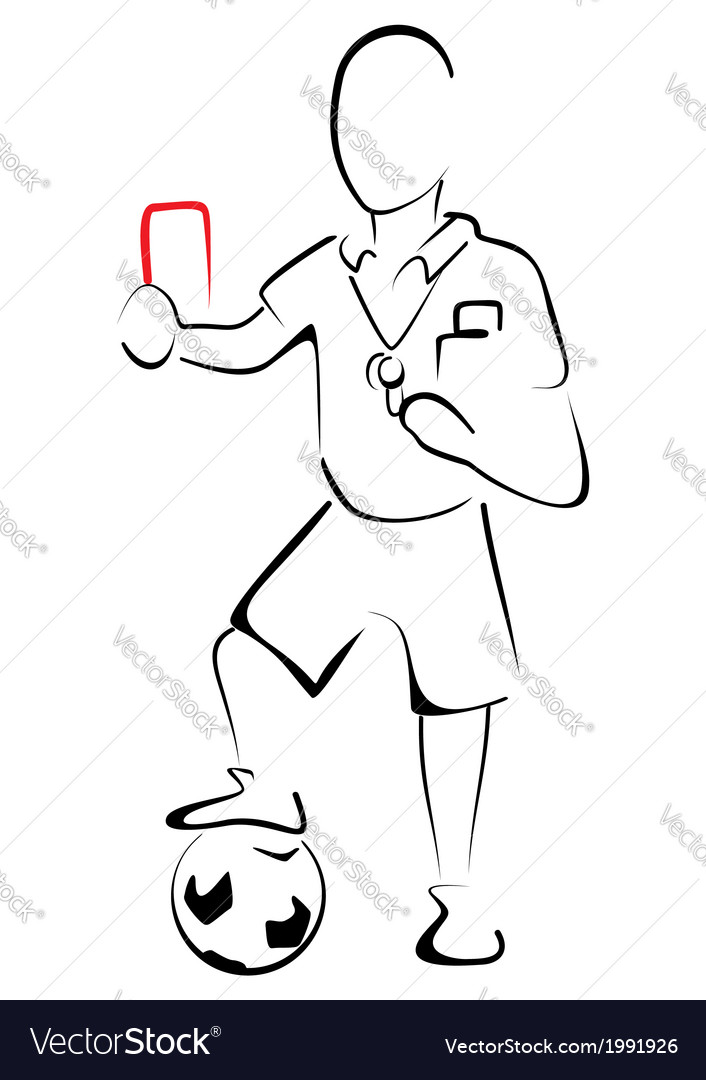 Football referee vector | Price: 1 Credit (USD $1)