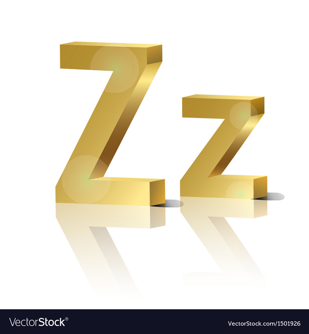 Golden letter z vector | Price: 1 Credit (USD $1)