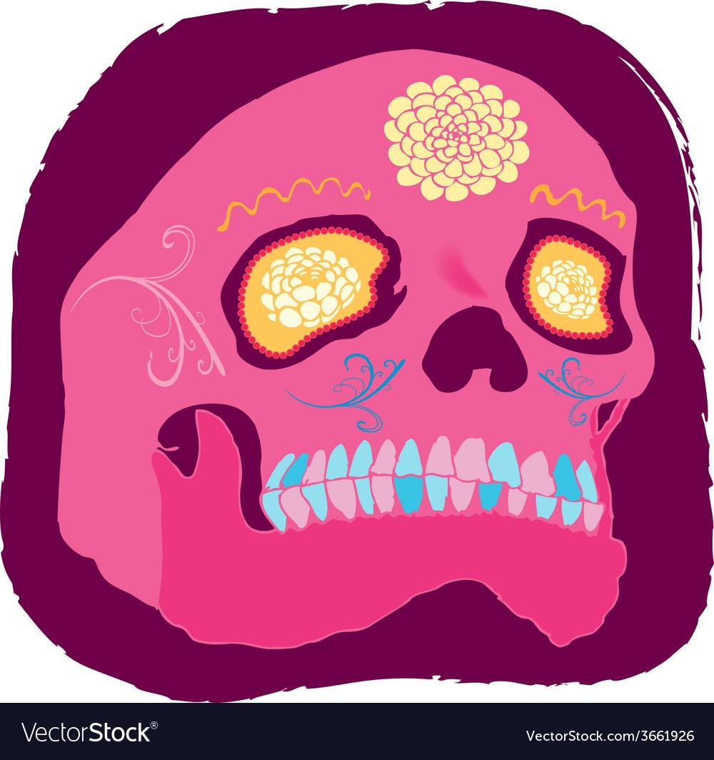 Pink skull vector   Price: 1 Credit (USD $1)