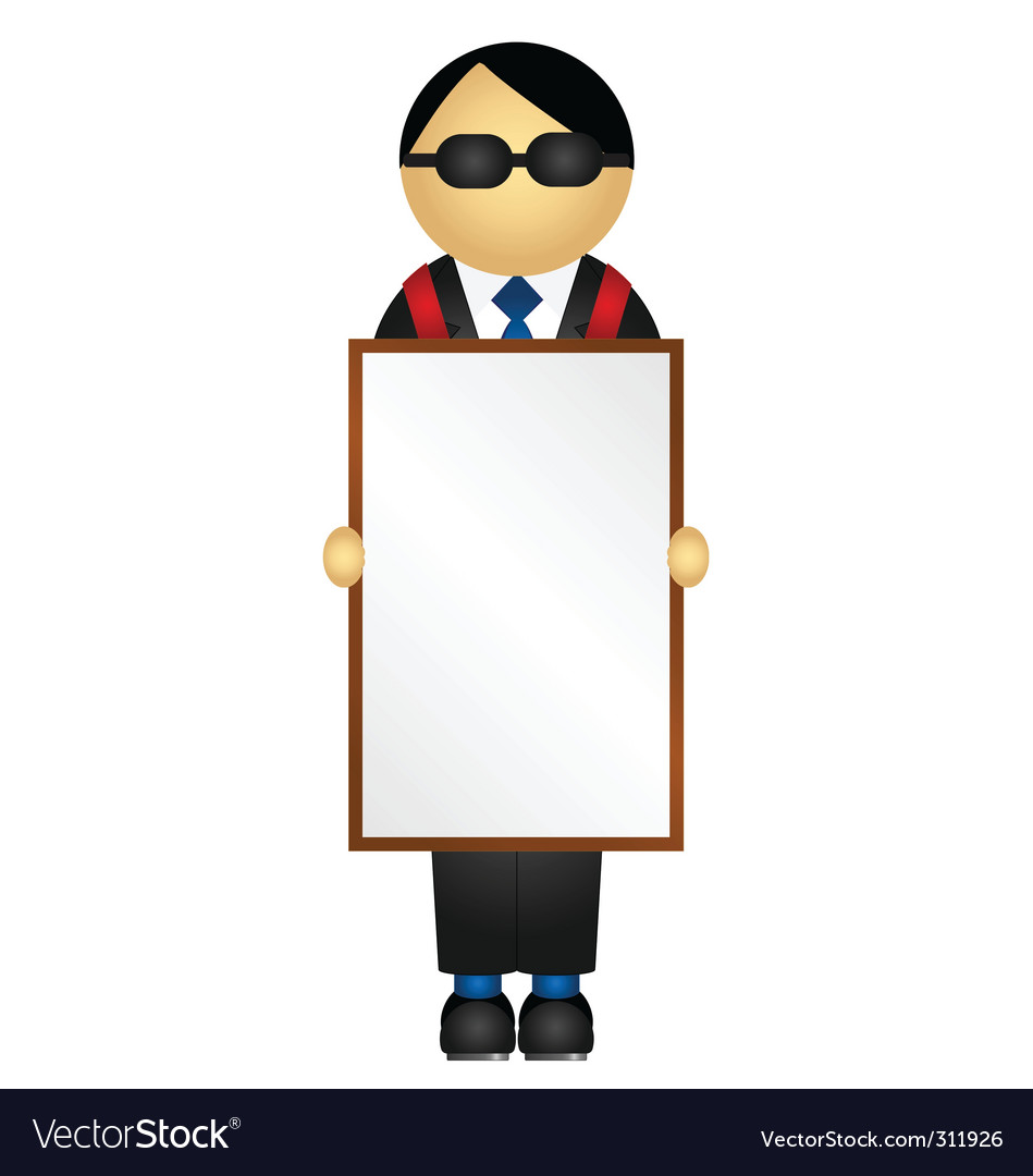 Sandwich board vector | Price: 1 Credit (USD $1)