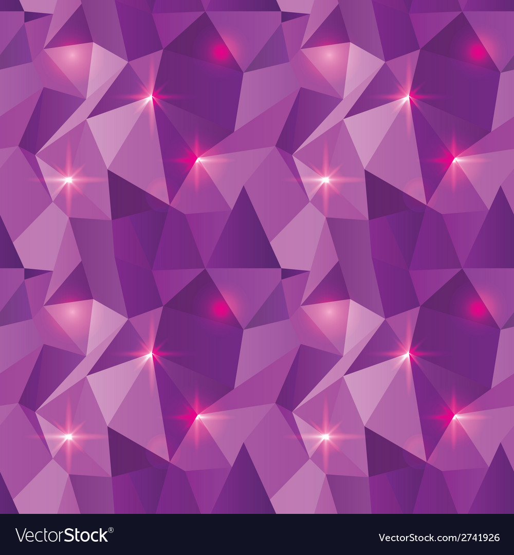 Seamless polygonal pattern purple shine background vector | Price: 1 Credit (USD $1)
