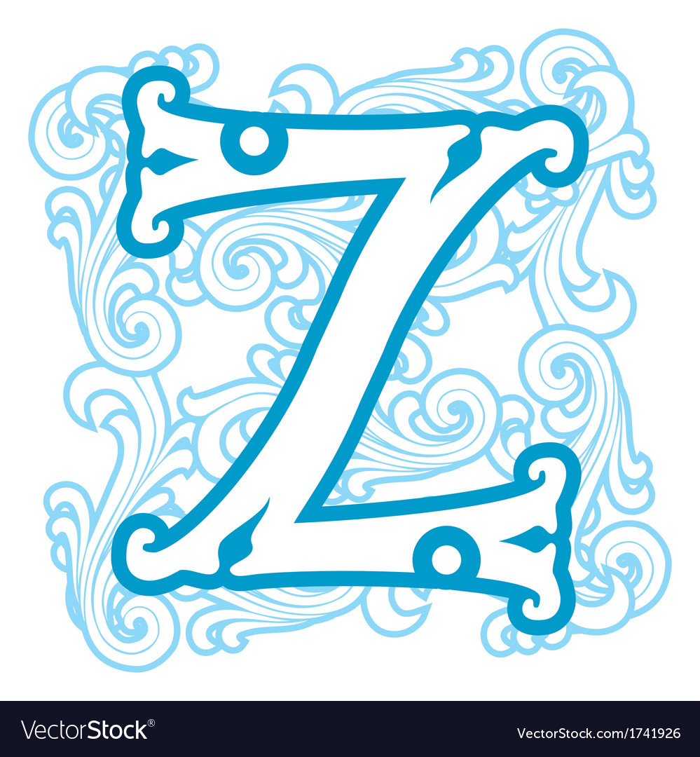 Winter vintage letter z vector | Price: 1 Credit (USD $1)