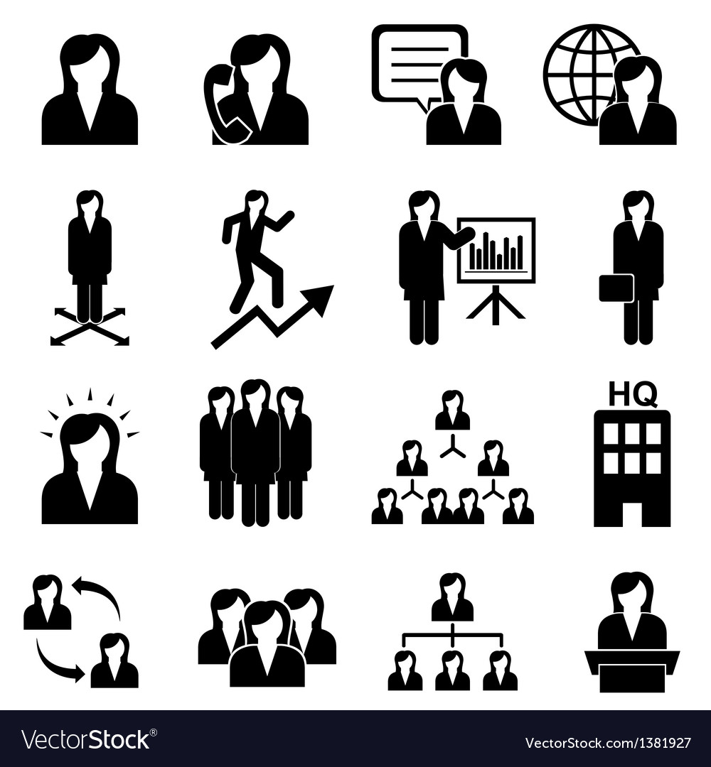 Business women icons vector | Price: 3 Credit (USD $3)