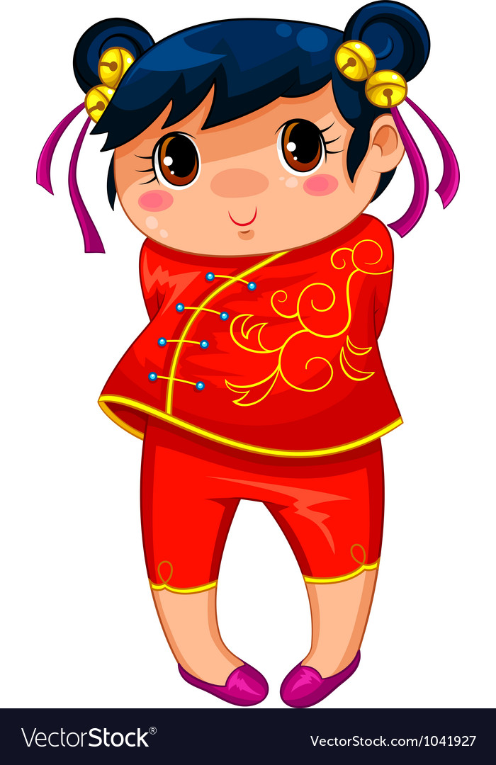 Chinese girl vector | Price: 3 Credit (USD $3)