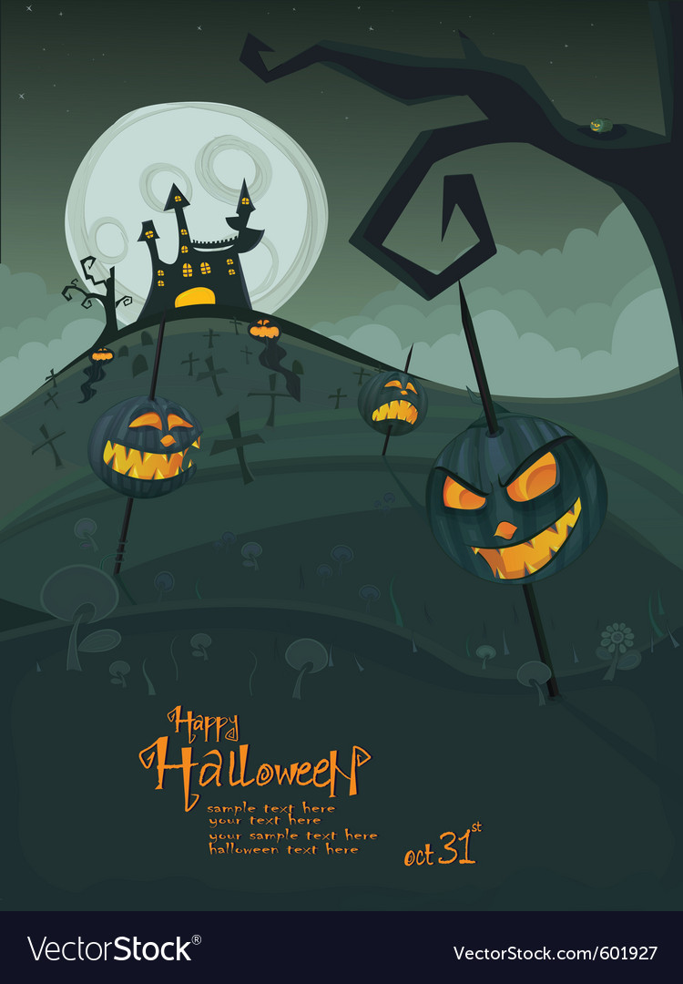 Halloween green template vector | Price: 3 Credit (USD $3)