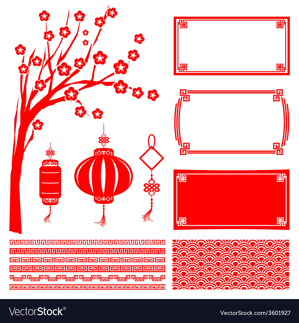 Happy chinese new year 2015 decoration element for vector | Price: 1 Credit (USD $1)