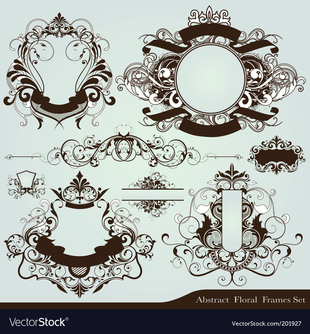 Heraldry frames vector | Price: 1 Credit (USD $1)