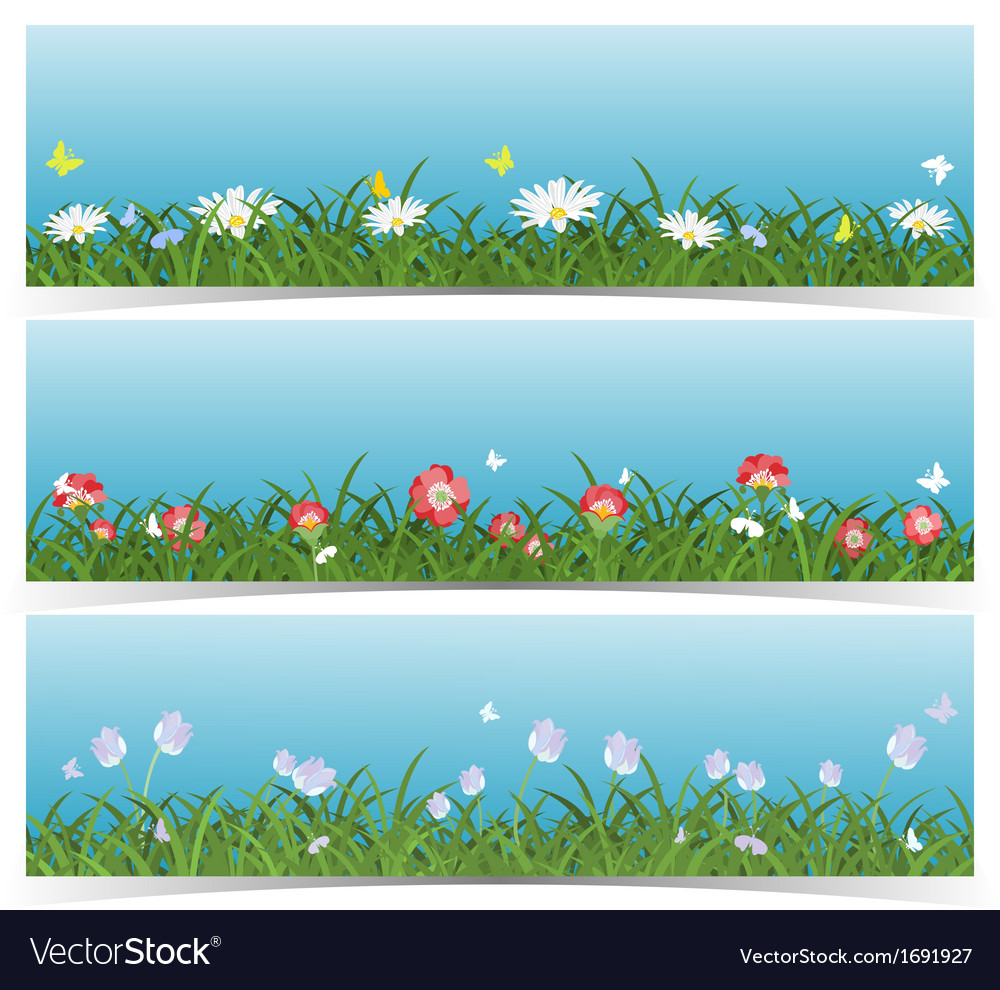Meadow banners vector | Price: 1 Credit (USD $1)