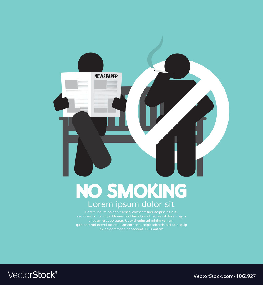 No smoking sign at public place vector | Price: 1 Credit (USD $1)