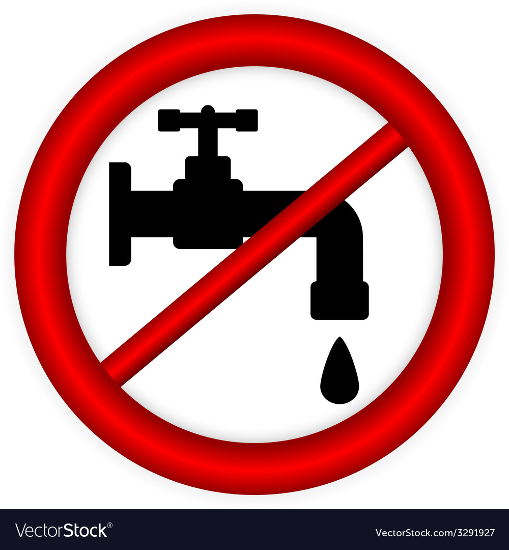 No water tap sign vector | Price: 1 Credit (USD $1)