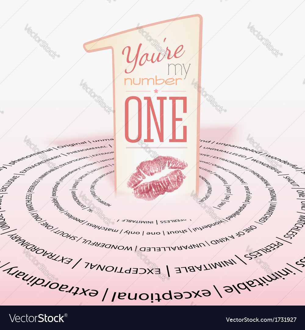 Number one positive card vector | Price: 1 Credit (USD $1)
