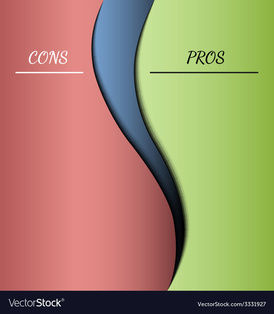 Pros and cons vector | Price: 1 Credit (USD $1)