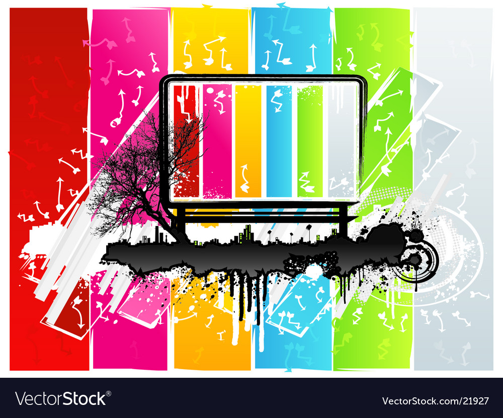 Rainbow grunge sign vector | Price: 1 Credit (USD $1)