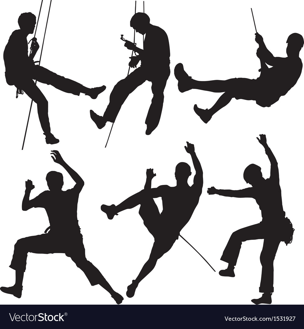 Rock climber silhouette vector | Price: 1 Credit (USD $1)