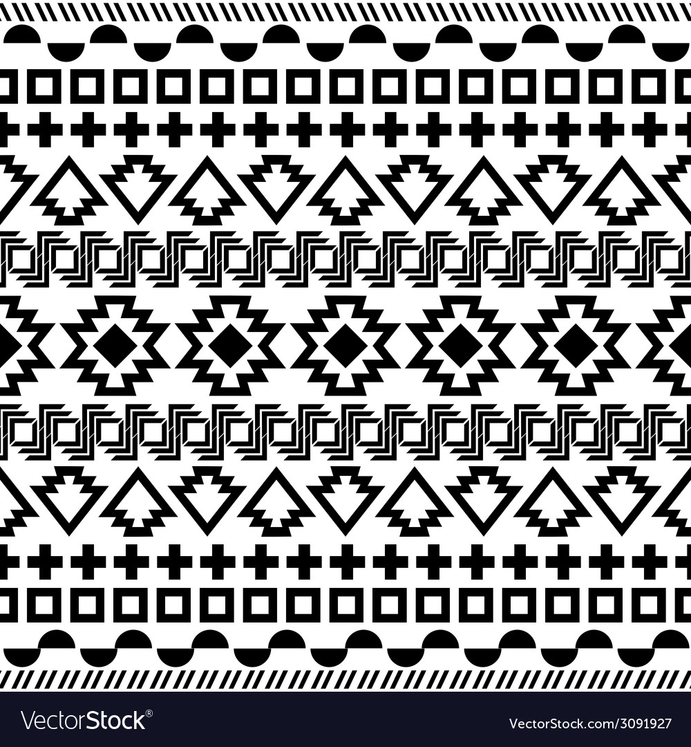 Seamless aztec pattern vector | Price: 1 Credit (USD $1)