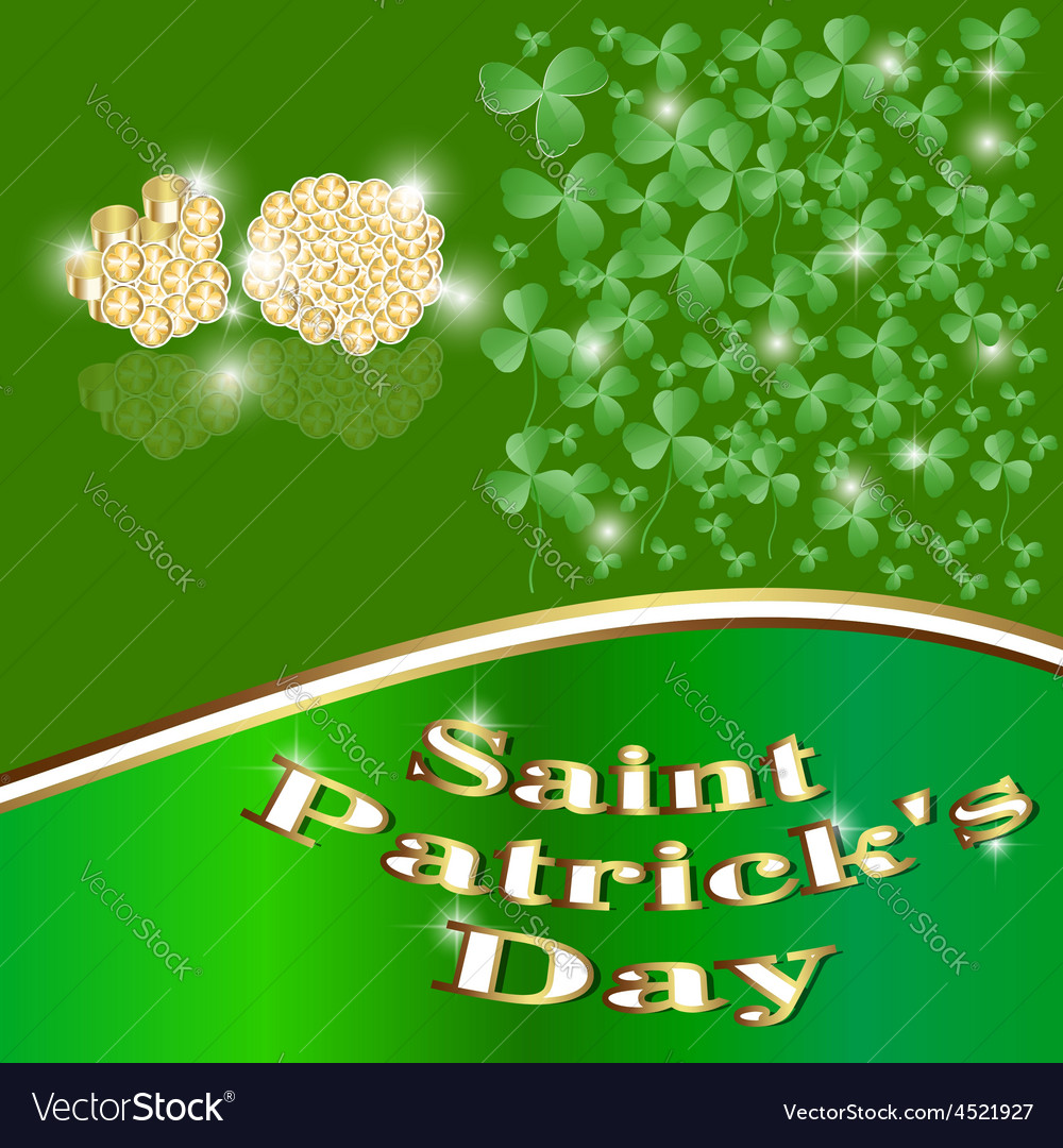 St patrick put the clover good luck traditionally vector | Price: 1 Credit (USD $1)