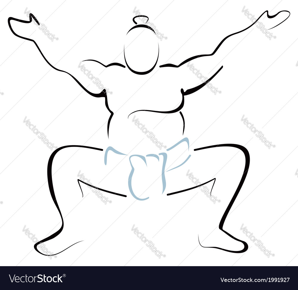 Sumo wrestler vector | Price: 1 Credit (USD $1)