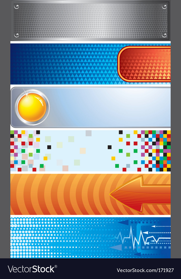 Techno banners vector | Price: 1 Credit (USD $1)