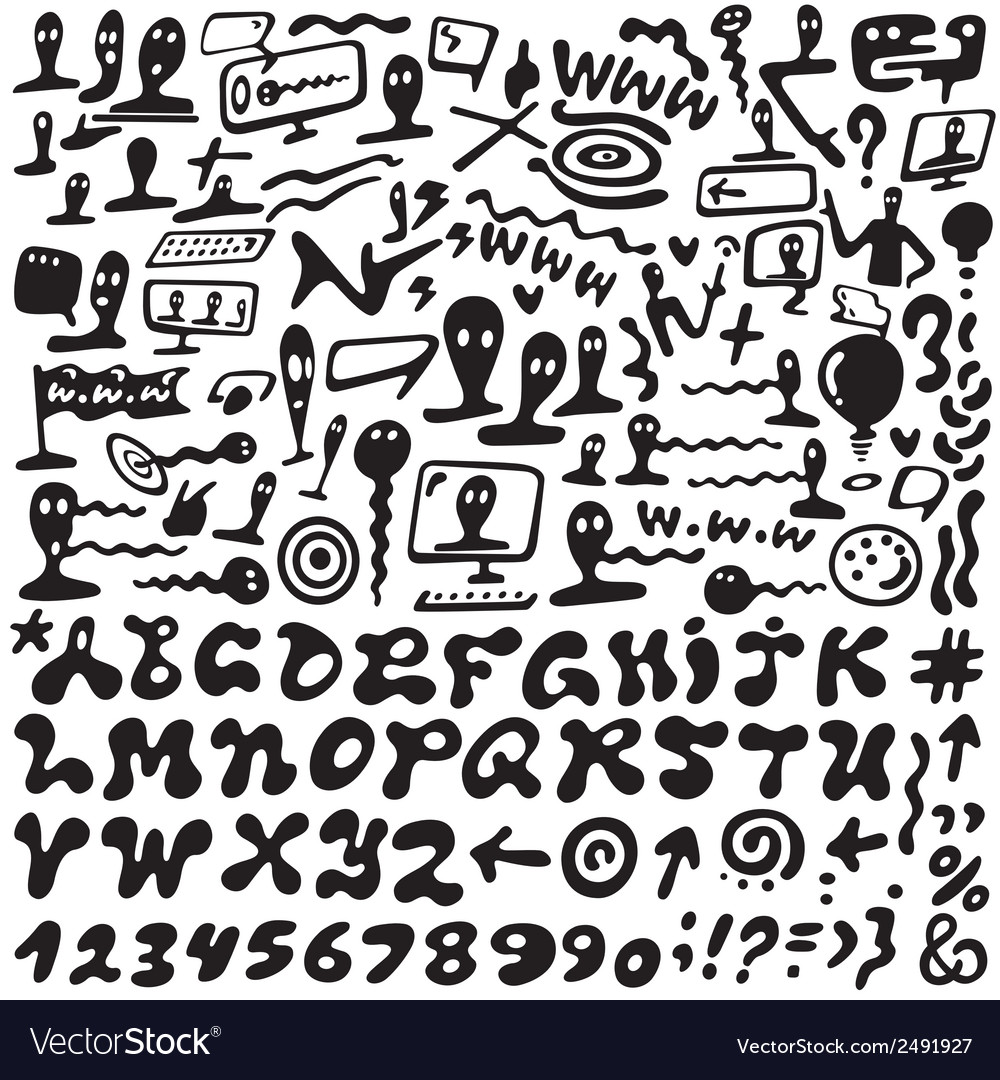Web doodles  alphabet vector | Price: 1 Credit (USD $1)