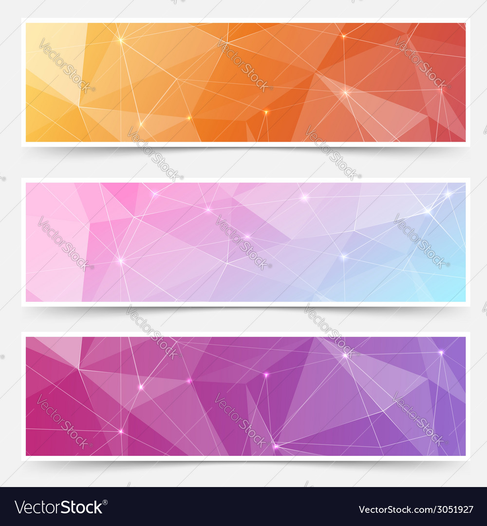 Web shining crystal structure banner headers vector | Price: 1 Credit (USD $1)