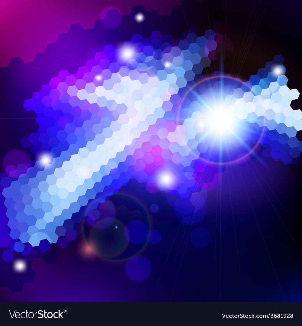 Abstract blue lens flare technology background vector | Price: 1 Credit (USD $1)