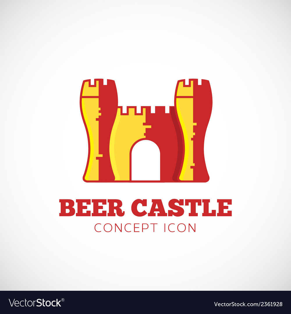 Beer castle concept symbol icon vector | Price: 1 Credit (USD $1)