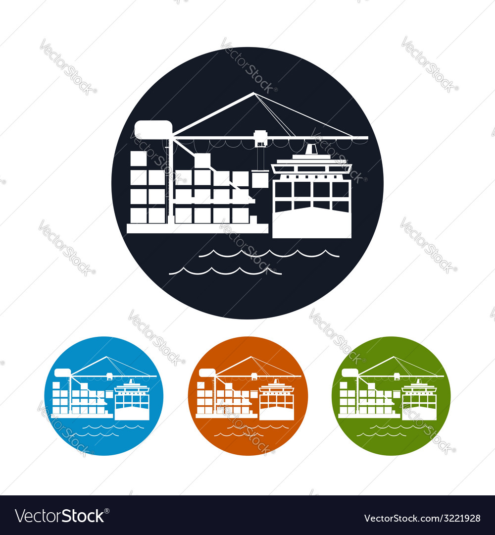Cargo container ship iconlogistics icon vector | Price: 1 Credit (USD $1)