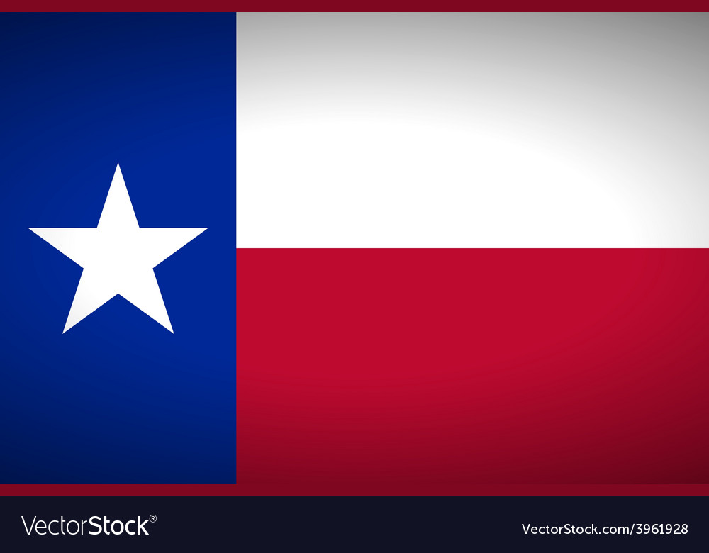 Flag of texas vector | Price: 1 Credit (USD $1)