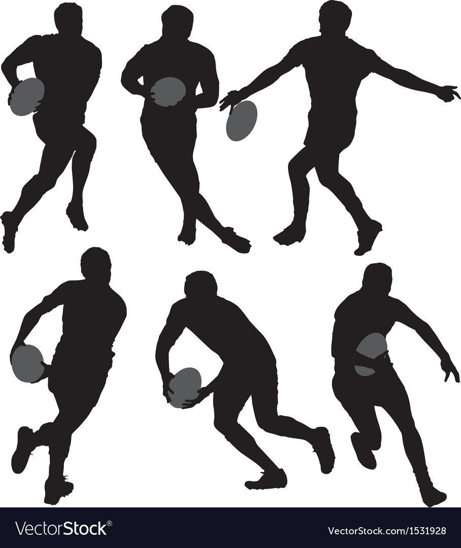 Rugby silhouette vector | Price: 1 Credit (USD $1)