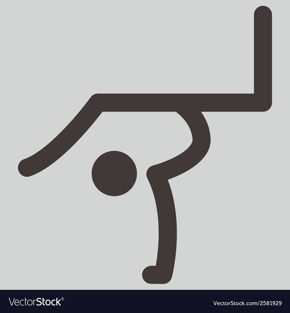 2276 gymnastics rhythmic icon vector | Price: 1 Credit (USD $1)