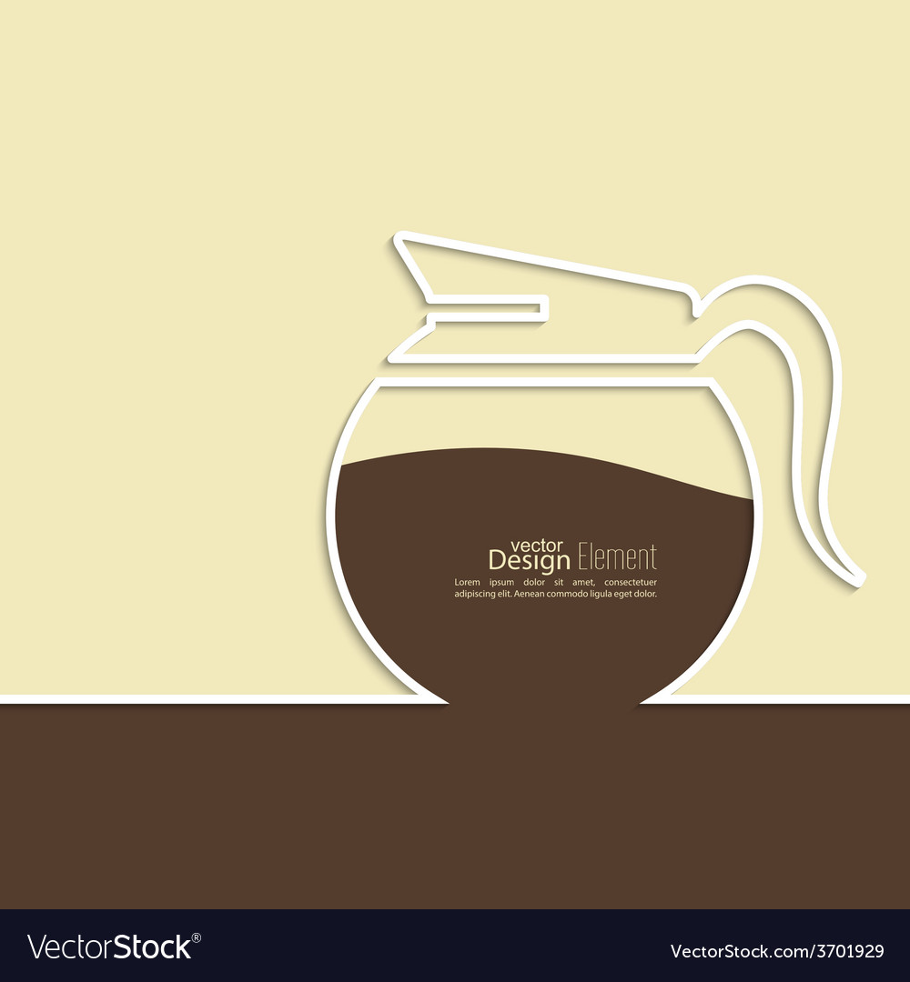 Abstract background with a coffee pot vector | Price: 1 Credit (USD $1)