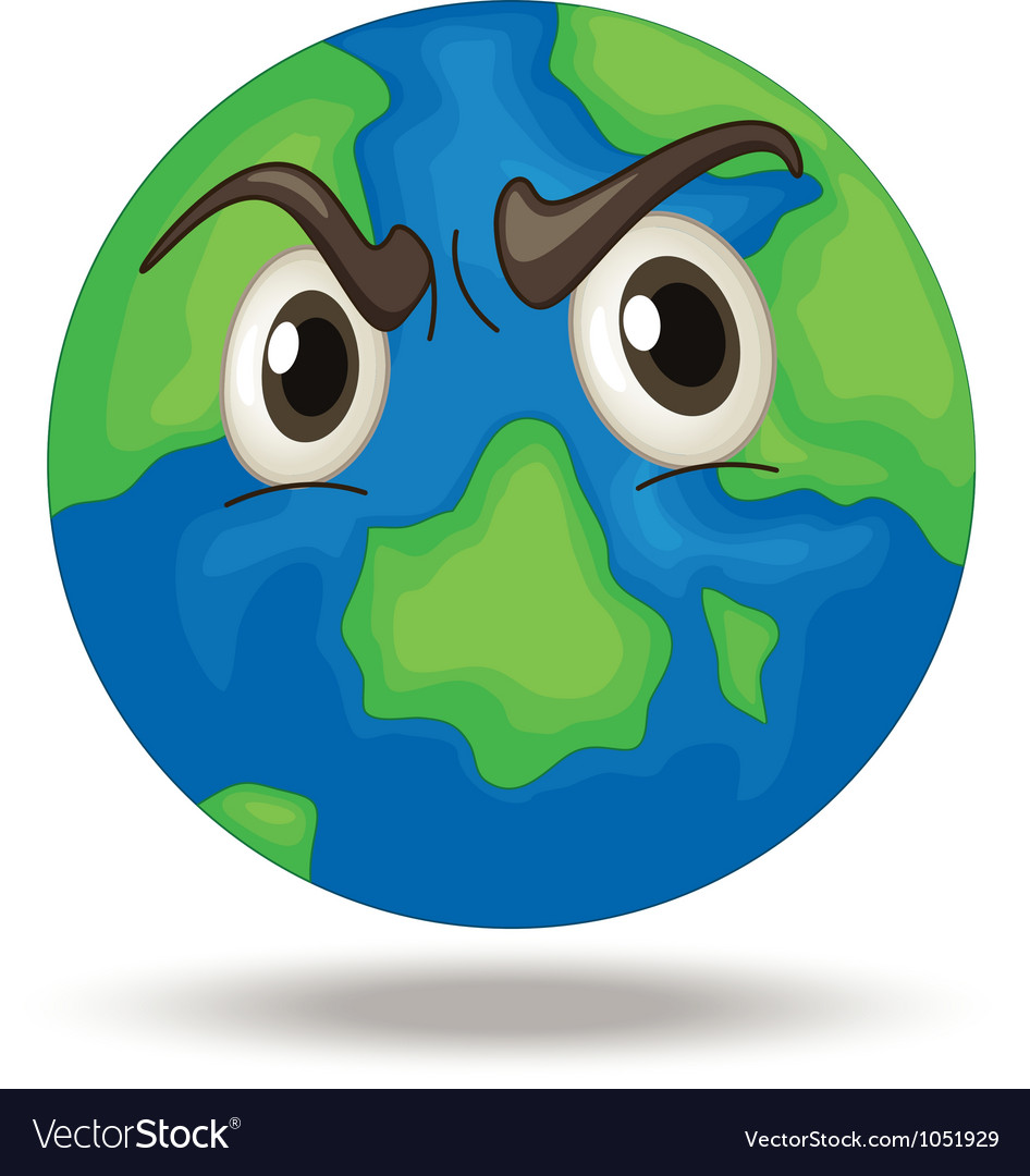 Angry earth vector | Price: 3 Credit (USD $3)