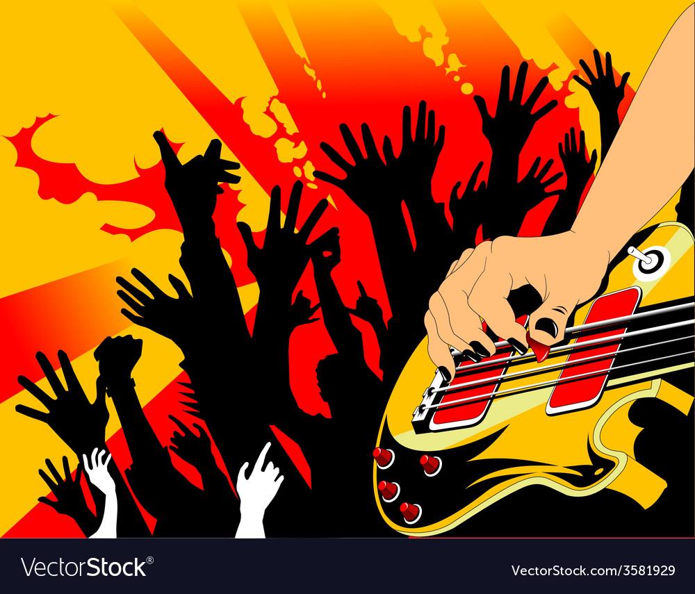 Cartoon rock musician vector | Price: 1 Credit (USD $1)