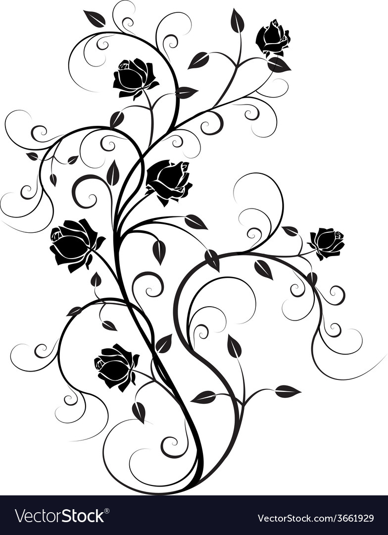 Flourishes in black 6 vector | Price: 1 Credit (USD $1)