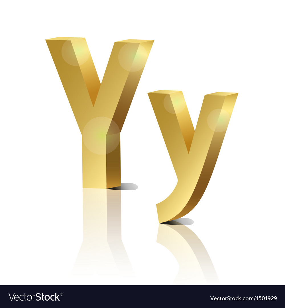 Golden letter y vector | Price: 1 Credit (USD $1)