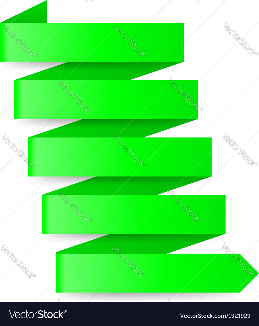 Green paper arrow vector | Price: 1 Credit (USD $1)