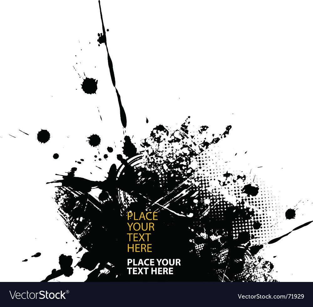Grunge splash vector | Price: 1 Credit (USD $1)