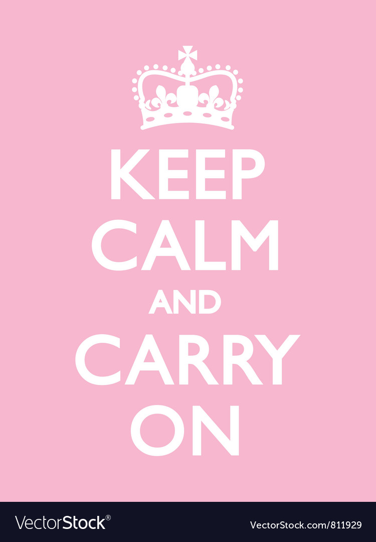 Keep calm carry on pink vector | Price: 1 Credit (USD $1)