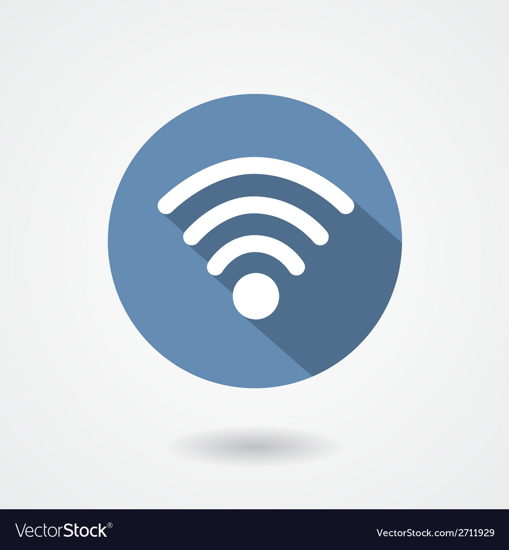 Wi-fi icon isolated on white background vector | Price: 1 Credit (USD $1)