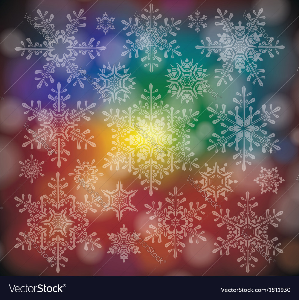 A winter background with snowflakes vector | Price: 1 Credit (USD $1)
