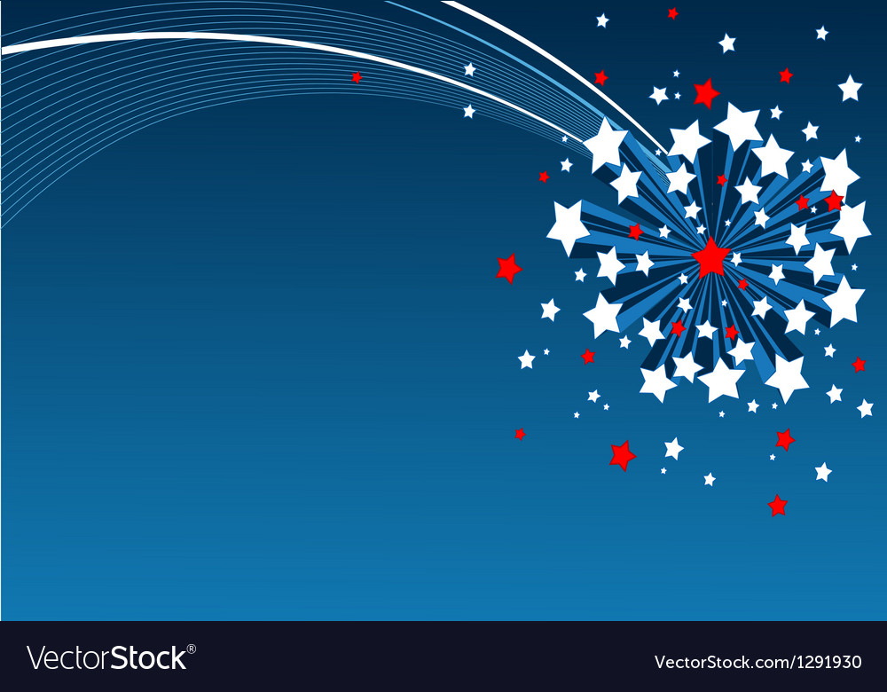 American starburst background vector | Price: 1 Credit (USD $1)